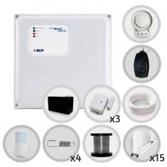 Kit Cerca Elétrica Com Alarme Sem Fio ECP 4 Sensores Para 40 Metros de Muro (Com bateria)