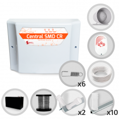 Kit Cerca Elétrica GCP Haste Estrela 6 Isoladores 30 Metros de Muro (Com Bateria)