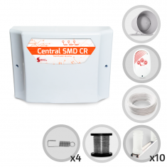 Imagem - Kit Cerca Elétrica GCP Para 30 Metros de Muro (Sem Bateria)