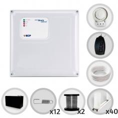 Kit Cerca Elétrica Shock Control ECP Para 120 Metros de Muro Completo (Com Bateria)