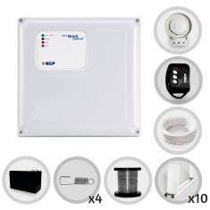 Kit Cerca Elétrica Shock Control ECP Para 30 Metros de Muro Completo (Com Bateria)