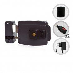 Kit Fechadura Elétrica com Controles + Receptor e Fonte
