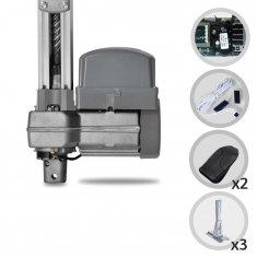 Kit Motor de Portão Eletrônico Basculante PPA Penta Predial 1/2 HP Jet Flex + Suportes