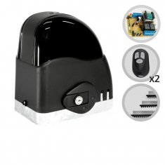 Imagem - Kit Motor de Portão Eletrônico Deslizante SliderAL Slim 1/5 HP RCG
