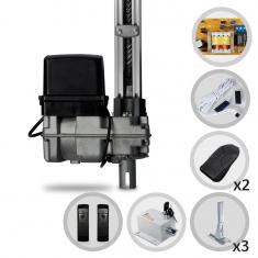 Kit Motor de Portão Eletrônico Basculante Bopo Bv Level 1/4 HP + Suportes + Trava e Sensor Barreira F10