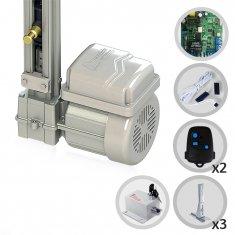 Kit Motor de Portão Eletrônico Basculante Fast Gatter 1/4 HP Peccinin + Suportes + Trava