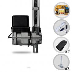Imagem - Kit Motor de Portão Eletrônico Basculante PPA Bv Home 1/4 HP + 3 Suportes