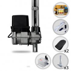 Imagem - Kit Motor de Portão Eletrônico Basculante PPA Bv Home 1/4 HP + 3 Suportes + Trava Eletromagnética