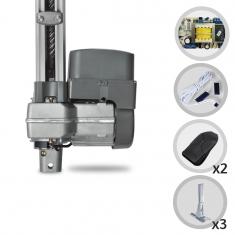 Kit Motor de Portão Eletrônico Basculante PPA Bv Levante 1/4HP SP + Suportes