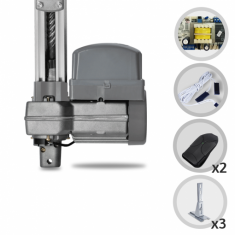 Kit Motor de Portão Eletrônico Basculante PPA Bv Potenza SP Predial 1/3HP + Suportes