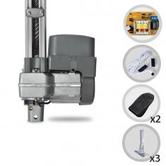 Kit Motor de Portão Eletrônico Basculante PPA Levante 1/4 HP 1,50 m + Suportes