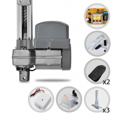 Kit Motor de Portão Eletrônico Basculante PPA Potenza Predial 1/3 HP + Trava + Suporte + Tx Car