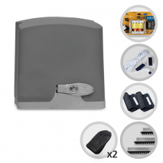 Imagem - Kit Motor de Portão Eletrônico Deslizante Bopo DZ Open House POP PLUS 1/4 HP