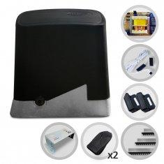 Kit Motor de Portão Eletrônico Deslizante PPA Dz Home Pop Plus 1/4HP + Base