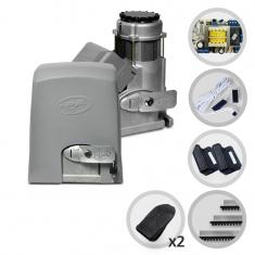 Kit Motor de Portão Eletrônico Deslizante PPA Dz Predial 1/2 HP Top Híbrido