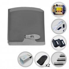 Imagem - Kit Motor de Portão Eletrônico Deslizante PPA Dz Rio 400 1/4 HP + Base