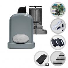 Kit Motor de Portão Eletrônico Deslizante PPA Eurus Steel Jet Flex