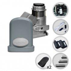 Kit Motor de Portão Eletrônico Deslizante PPA Eurus Steel Jet Flex Facility Hibrida
