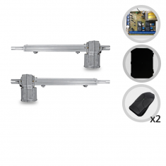 Kit Motor de Portão Eletrônico Pivotante PPA Piston Standard Central Dupla