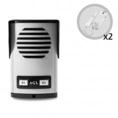 Kit Porteiro Eletrônico Coletivo AGL 2 Pontos Com 2 Monofones