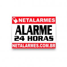 Imagem - Placa de Advertência Alarme 24 horas