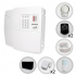 Kit Alarme Residencial Sem Fio PPA 3 Sensores Discadora + Bateria(Controles e Sensores Configurados)