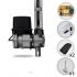 Kit Motor de Portão Eletrônico Basculante PPA Bv Home 1/4 HP + 3 Suportes