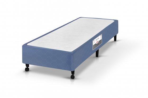 Box Castor SI Solteiro Poli Azul 078x188x27 (Viúvo)