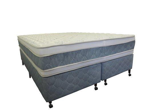 Cama Box + Colchão Queen Size Netsono Mola Pocket® Five Star AIR com Box SI Double Face 158x198x74cm