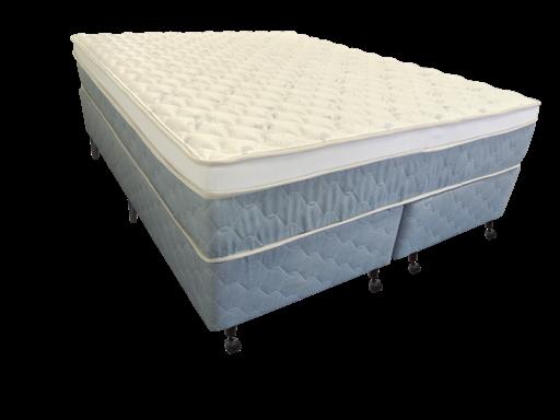 Cama Box + Colchão Queen Size Netsono Mola Pocket® Five Star AIR com Box SI One Face 158x198x72cm
