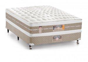 Imagem - Cama Box + Colchão Casal Castor Mola Pocket® Silver Star AIR com Box SI Double Face 138x188x74cm