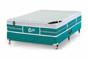 Imagem - Cama Box - Colchão Casal Green Unique Molas Pocket Castor com Box SI 138x188x72cm