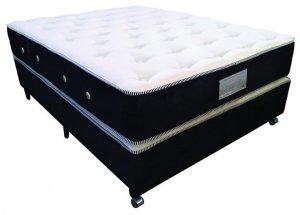 Imagem - Cama Box + Colchão Casal MontBlanc Kingdom Molas Pocket® 138x188x68cm 04938/17304