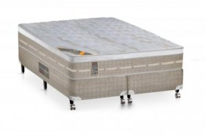 Cama Box + Colchão Castor Queen Size Premium Amazon One Face 158x198x72cm
