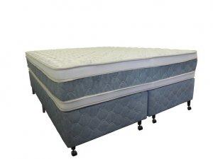 Cama Box + Colchão King Size Netsono Mola Pocket® Five Star AIR com Box SI Double Face 193x203x74cm