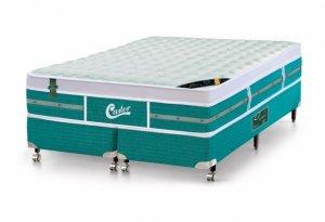 Imagem - Cama Box - Colchão Queen Size Green Unique Molas Pocket Castor com Box SI 158x198x72cm 53013