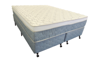 Cama Box + Colchão Queen Size Netsono Mola Pocket® Five Star AIR com Box SI One Face 158x198x72cm