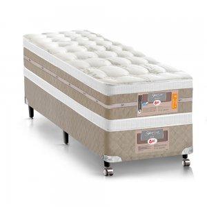 Cama Box + Colchão Solteiro Castor Mola Pocket® Silver Star AIR com Box SI Double Face 120x203x74cm