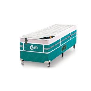 Cama Box - Colchão Solteiro Green Unique Molas Pocket Castor com Box SI 088x188x72cm