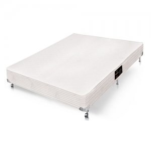Cama Box Simples Castor Casal Kingdom Aloe Vera 138x188x40cm