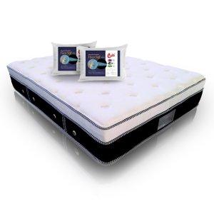 Imagem - Colchão Casal MontBlanc Euro Molas Pocket + 2 Travesseiro Castor Visco Soft 045x065x014cm