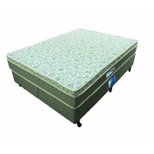 Colchão Queen Size Netsono Molas Bonnel (1,58 x 1,98) + Cama Box Compre e leve Cabeceira Castor Revollution Marrom por R$ 100,00