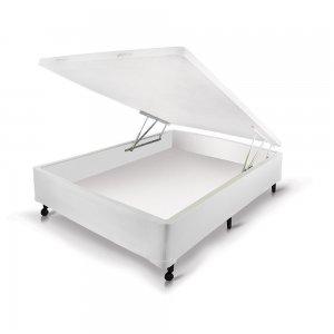 Box Castor Baú Universal Casal Branco New 138x188x30