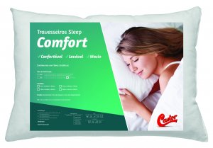 Travesseiro Castor Sleep Comfort 50x70x12cm