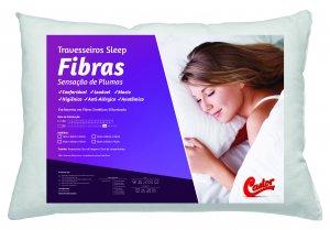 Travesseiro Castor Sleep Fibras - 100% Algodão 045x065x012cm