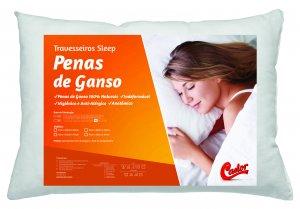 Travesseiro Castor Sleep Pena de Ganso 50x70x12cm