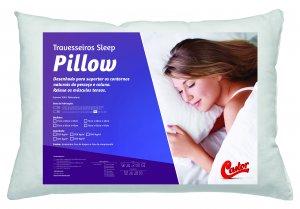 Travesseiro Castor Sleep Pillow 100% Algodão 45x65x12cm