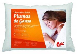 Travesseiro Castor Sleep Pluma de Ganso 045x065x12cm