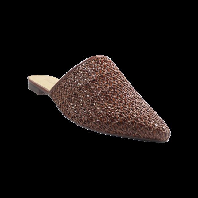 Mule AnaCapri Tressê Marrom Chocolate