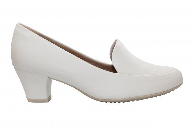 Sapato Scarpin Piccadilly Salto Baixo Branco